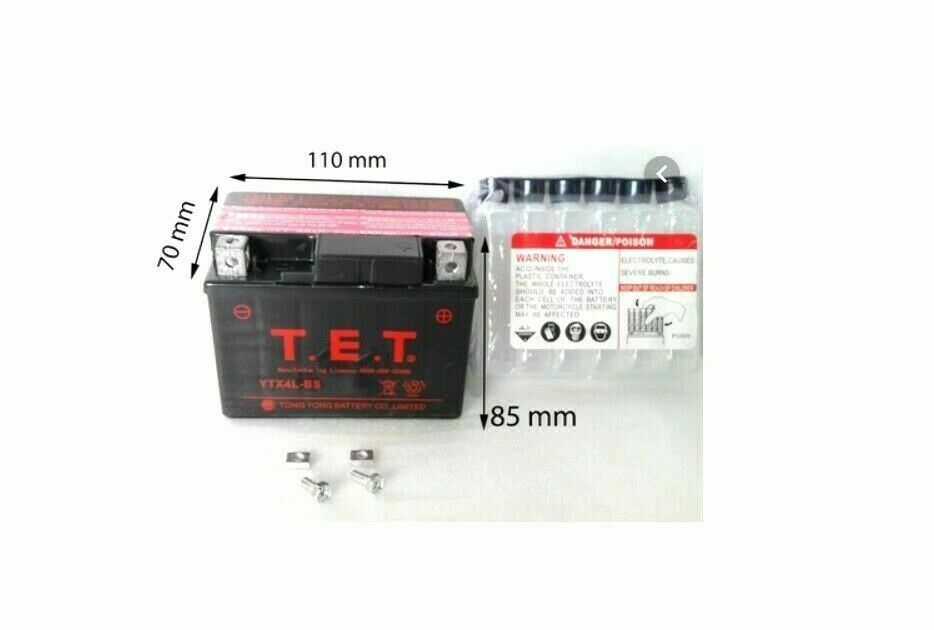 12v atv battery for 50cc 70cc 110cc 125cc atv quad bike. Black Bedroom Furniture Sets. Home Design Ideas