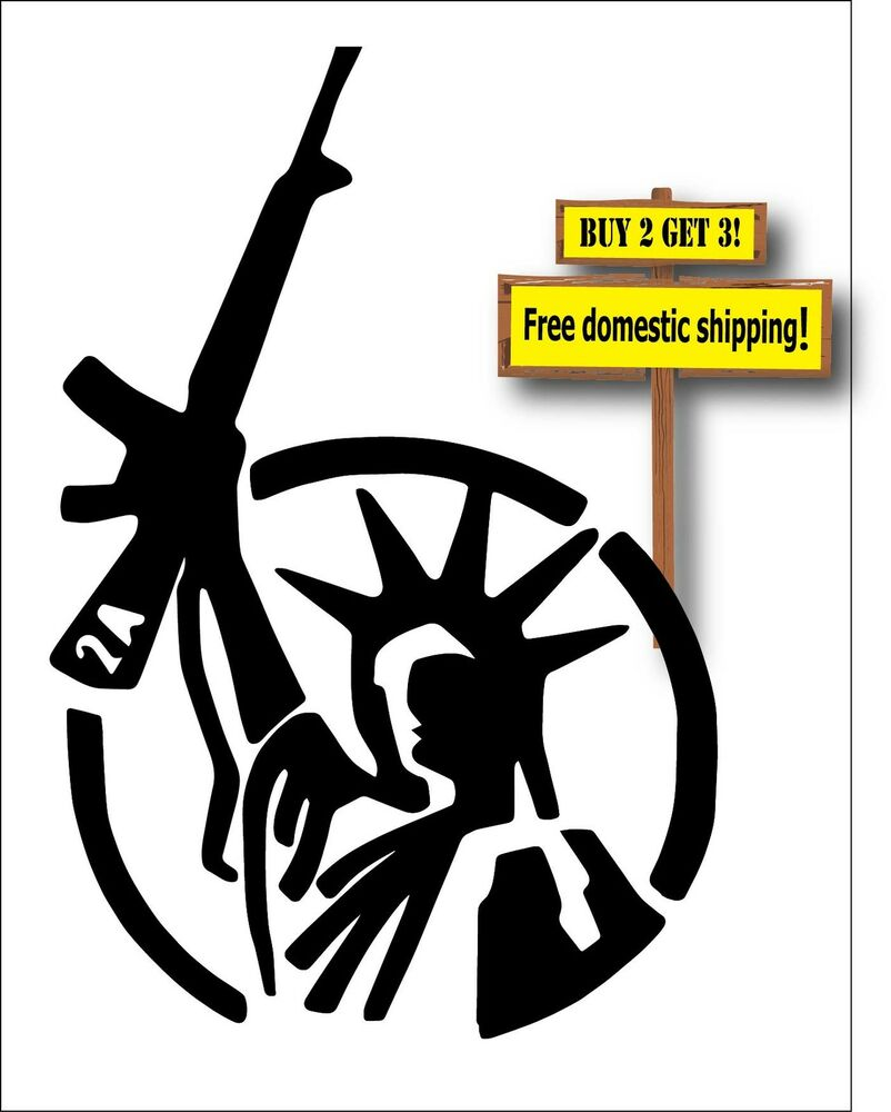 Usa Statue Of Liberty With Gun Rights Black 2nd Amendment