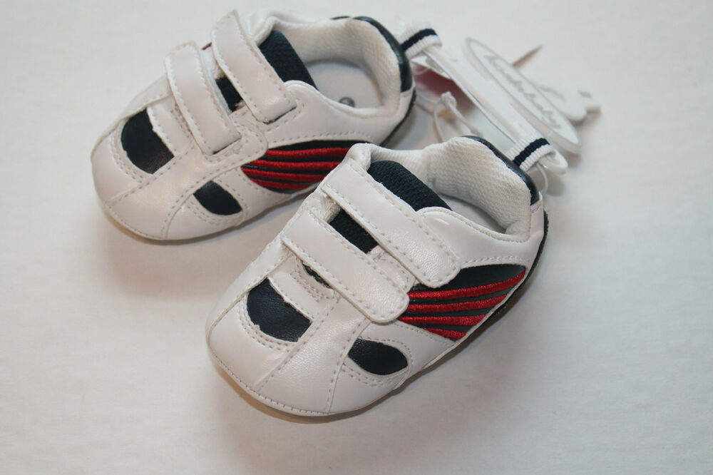 Koala Baby Infant Boy Size 2 White Blue Sports Shoes