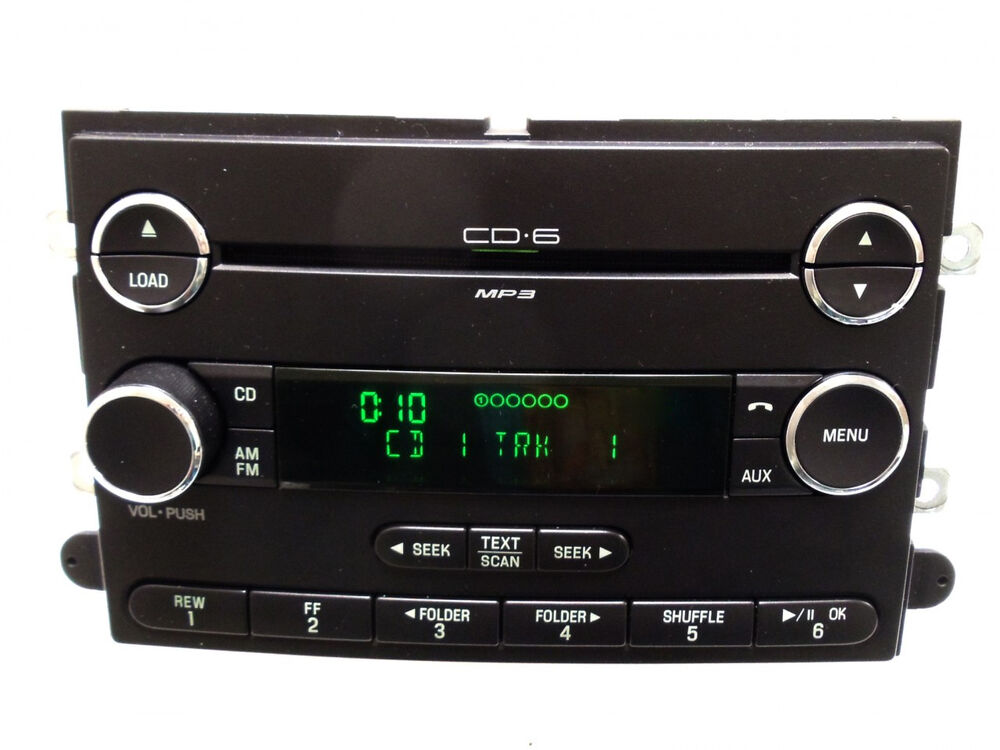 06 07 08 09 ford fusion f 150 mercury milan radio aux mp3 mp 3 6 disc cd changer ebay. Black Bedroom Furniture Sets. Home Design Ideas
