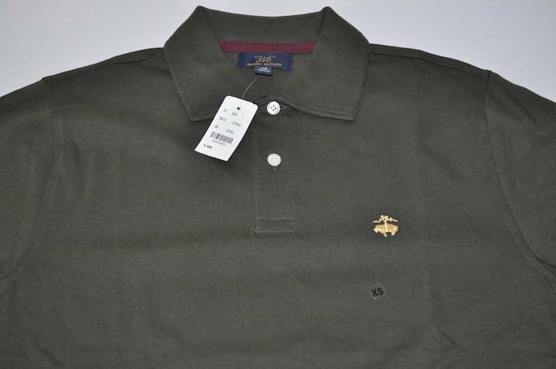 Brooks brothers 346 olive green polo shirt mens size xs for Mens xs golf shirts