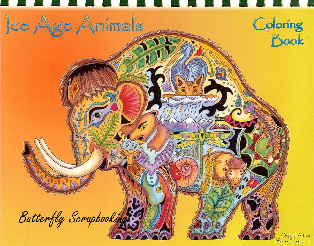 Coloring Book Ice Age Animal Spirits 15 Pages EARTH ART