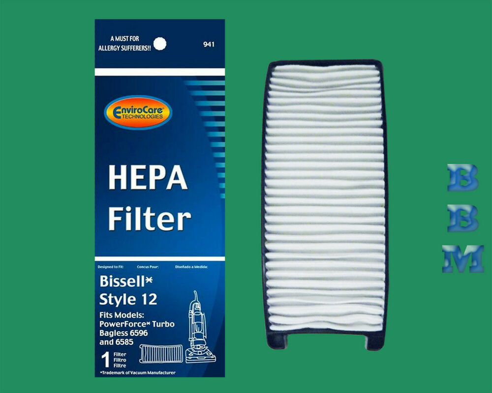 1 Style 12 203 8037 Hepa Filter Bissell Powerforce Turbo