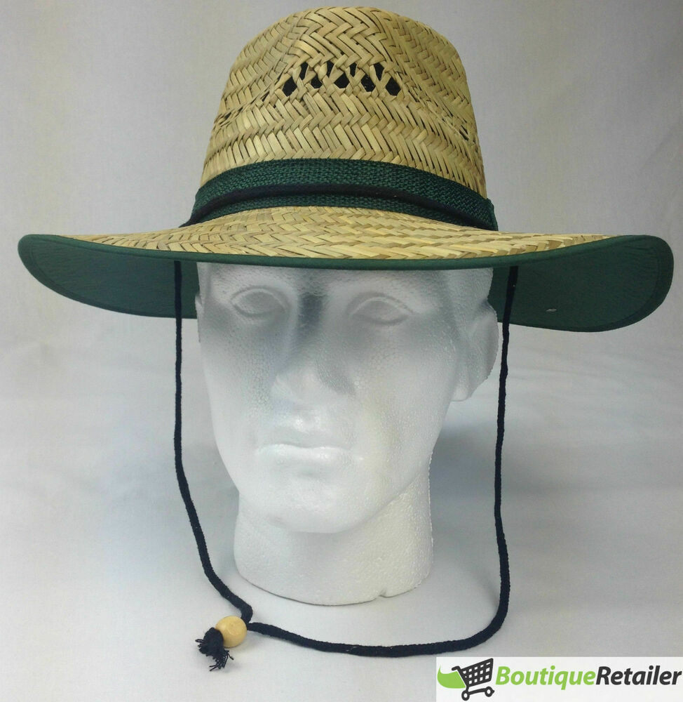 Dents rush garden straw hat with fabric summer sun for Fishing sun hat