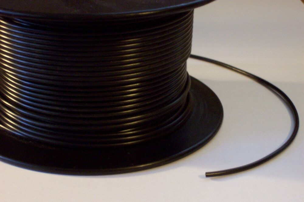 18 Awg Black Single Fixture Wire Plastic Covered Sold By