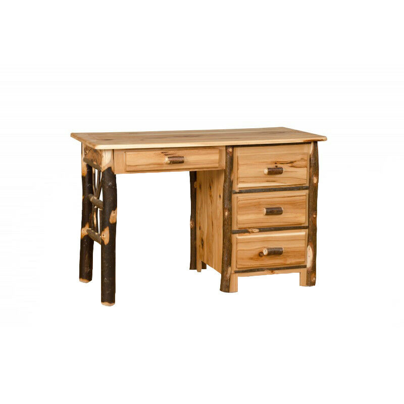 All Hickory Or Hickory Amp Oak Rustic Student Desk Amish