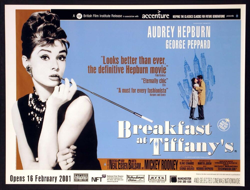 breakfast at tiffany s audrey hepburn 2001 bfi quad ebay. Black Bedroom Furniture Sets. Home Design Ideas
