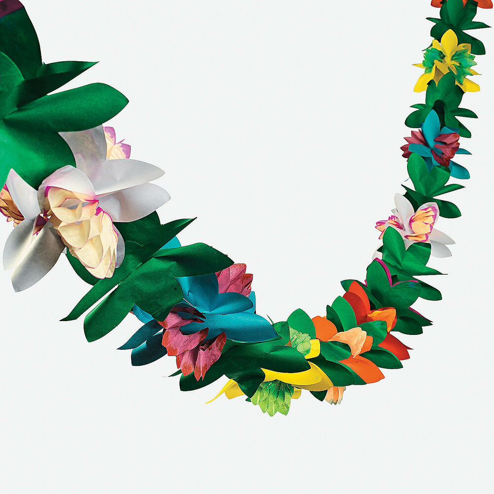 1 luau tiki hawaiian tropical party decorations flower for Hawaiin decorations