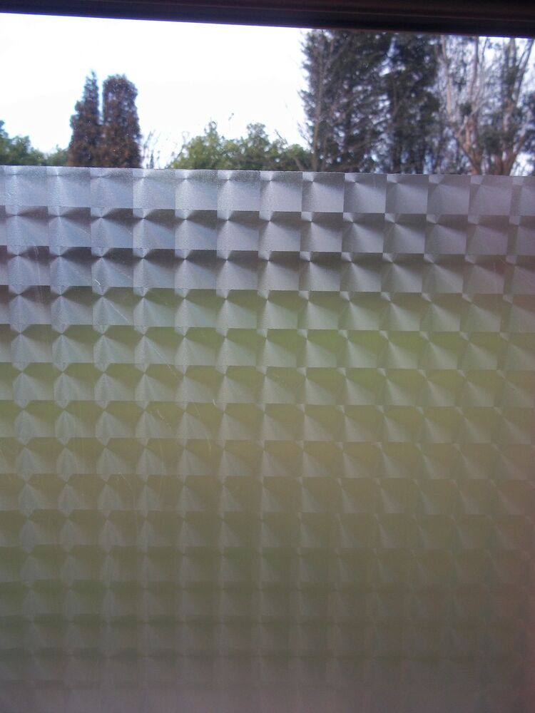 Fablon Frosted Tronque Privacy Glass Window Static Cling