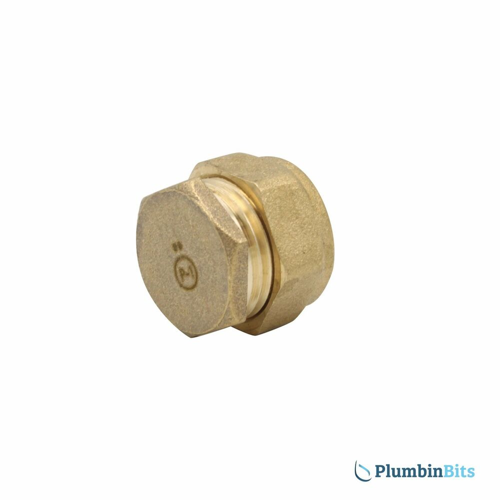 Compression 15mm Brass Blanking Stop End Cap Fitting For