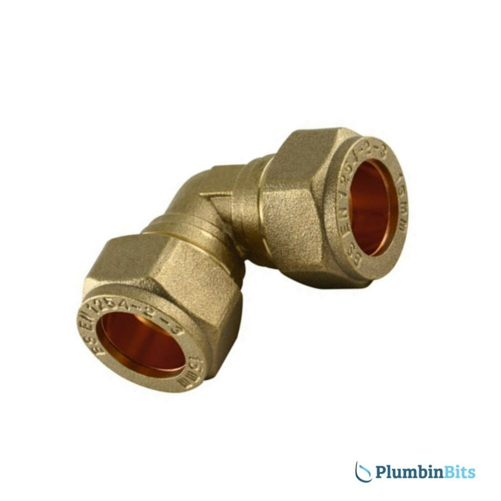 Compression 15mm brass 90 degree elbow connector fitting for Copper water pipe connectors