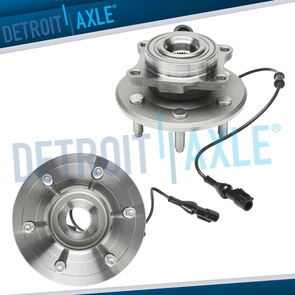 set 2 new rear complete wheel hub and bearing assembly. Black Bedroom Furniture Sets. Home Design Ideas