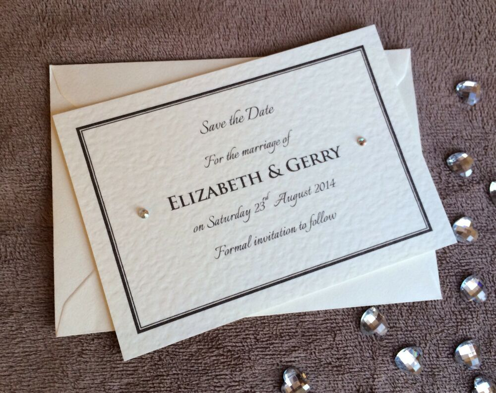 Wedding Save The Date Postcards: 10 X Personalised Save The Date Cards- Weddings