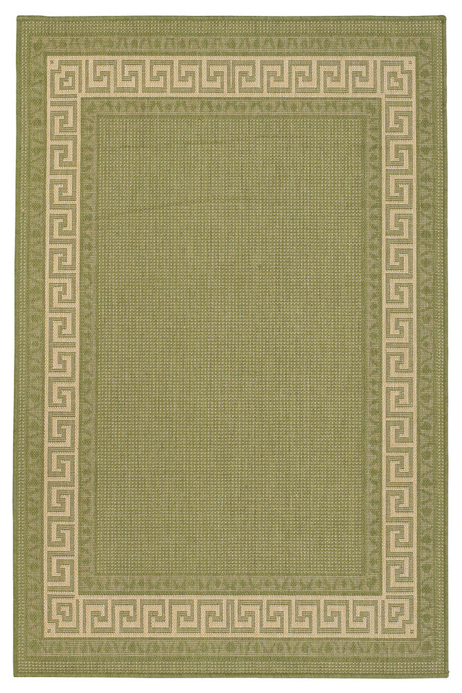 Kitchen utility runner rug green sisal like greekkey for Small rugs for kitchen