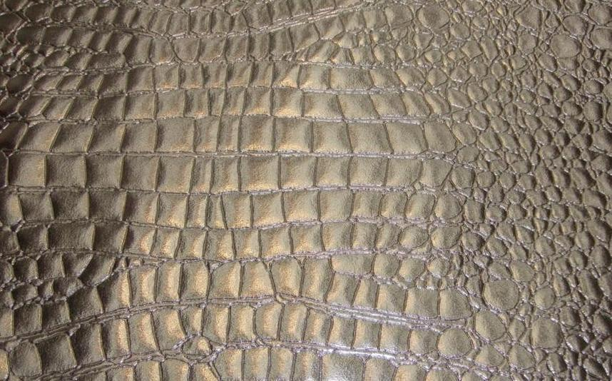 Silver shinny heavy duty upholstery crocodile vinyl fabric for Cloth for sale by the yard