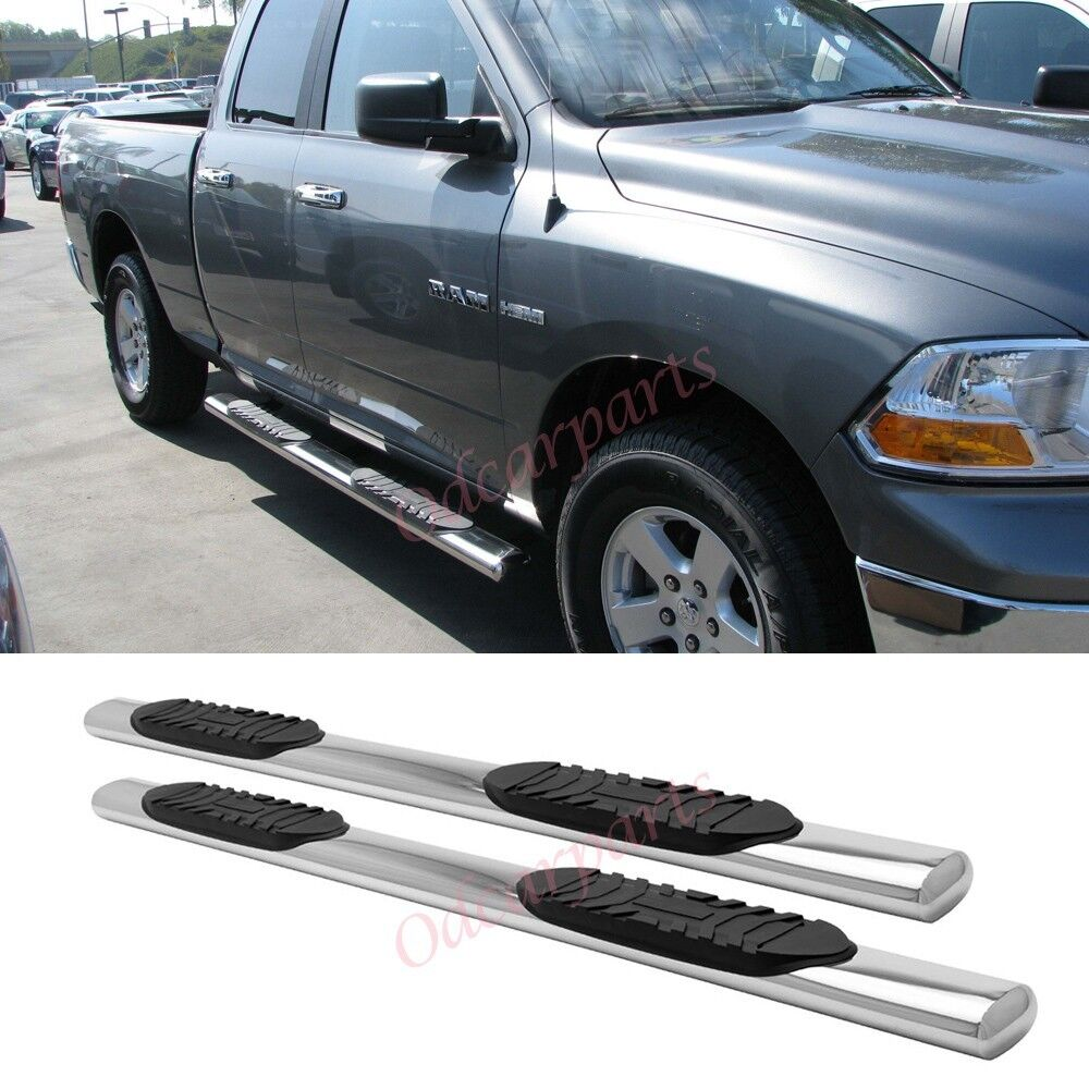 "Extnded Cab Ram: 09-14 Ram 1500 Quad/EXT Cab 5"" Stainless Steel Side Step"