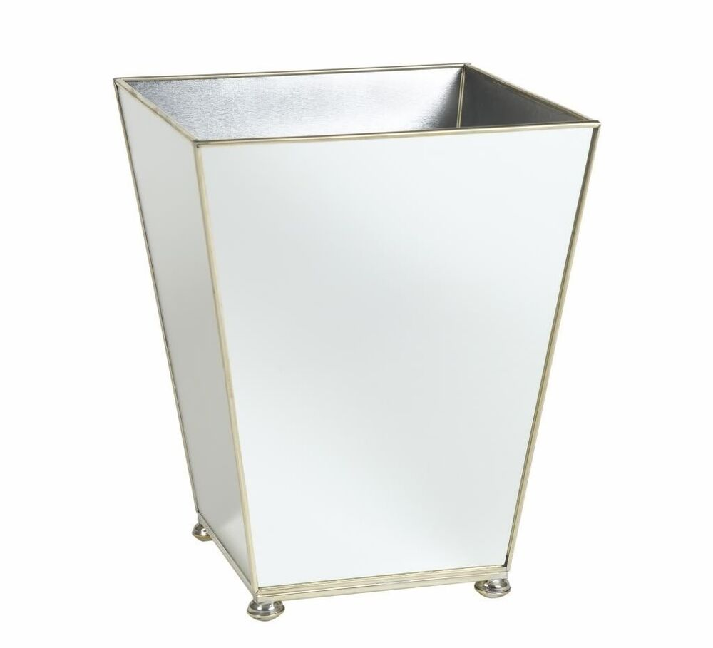 Bathroom trash can wastebasket bathroom accessories decor for Bathroom garbage can