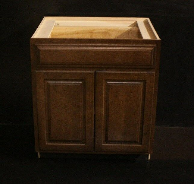 Kraftmad Cognac Cherry Kitchen Bathroom Vanity Sink Cabinet 30 Ebay