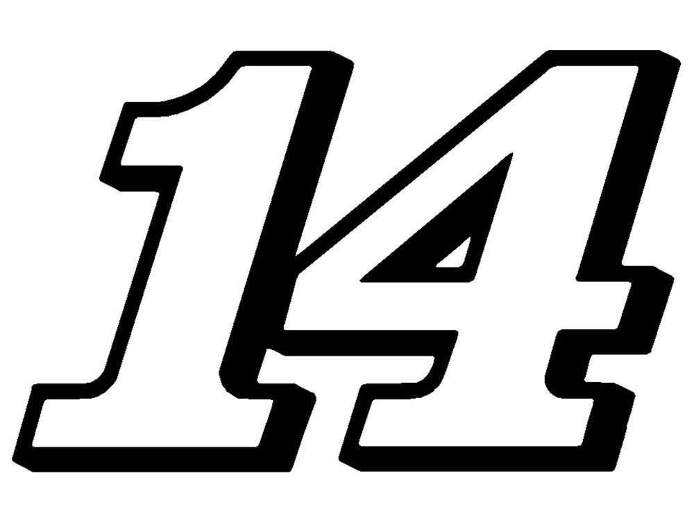 8 x 12 5 tony stewart clint boyer number 14 window decal vinyl sticker racing ebay