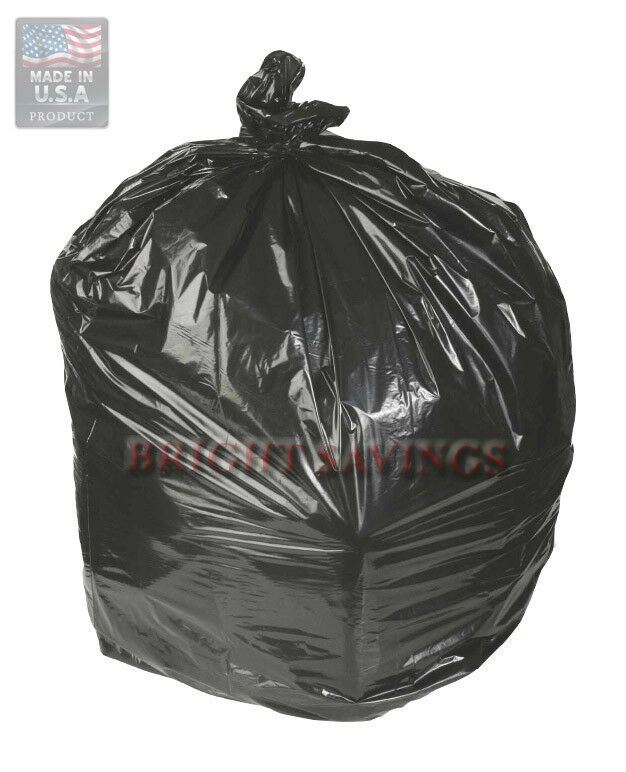 Trash Can Liner Bags : Ct gallon trash can liners garbage bags black ebay