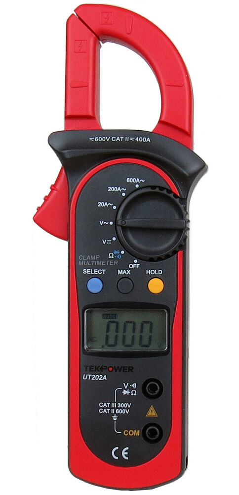 Voltage Clamp Meter : Tekpower ut a ac dc voltage amp clamp meter