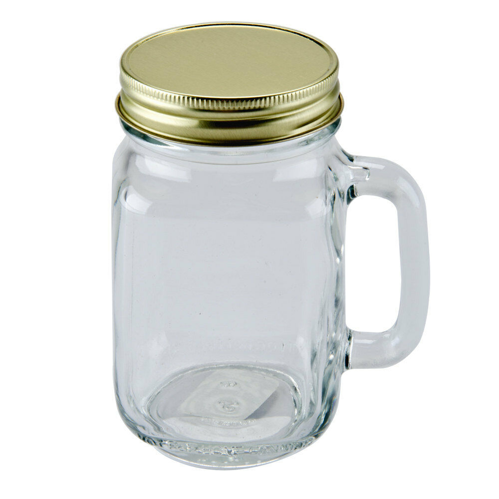 16 oz mason jars 12 jars w handle amp lids 16 oz country rustic 10150