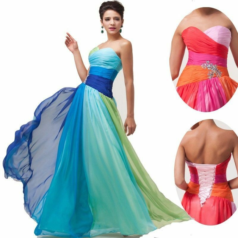 ... Long Colorful Prom Party Dress Cocktail Homecoming Bridesmaid Dresses