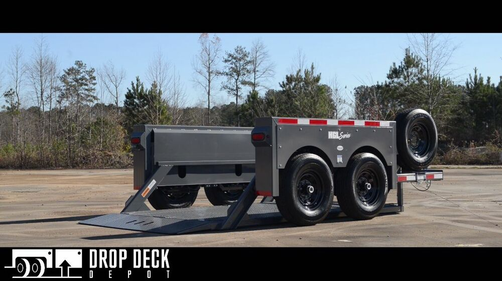 Hydraulic Lowering Trailers : Anderson hgl hydraulic drop deck scissor lift