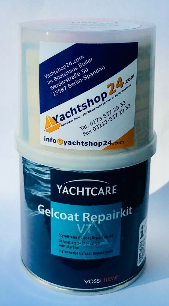 yachtcare gelcoat reparatur set 200g profi yachtrefit. Black Bedroom Furniture Sets. Home Design Ideas