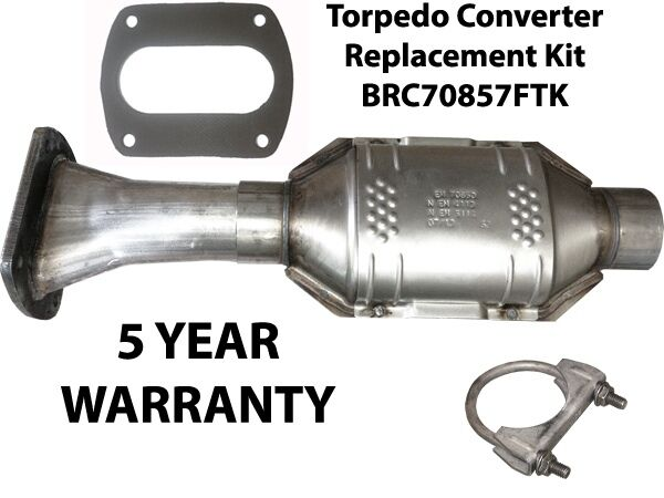 Exhaust flange converter replacement kit ford torpedo