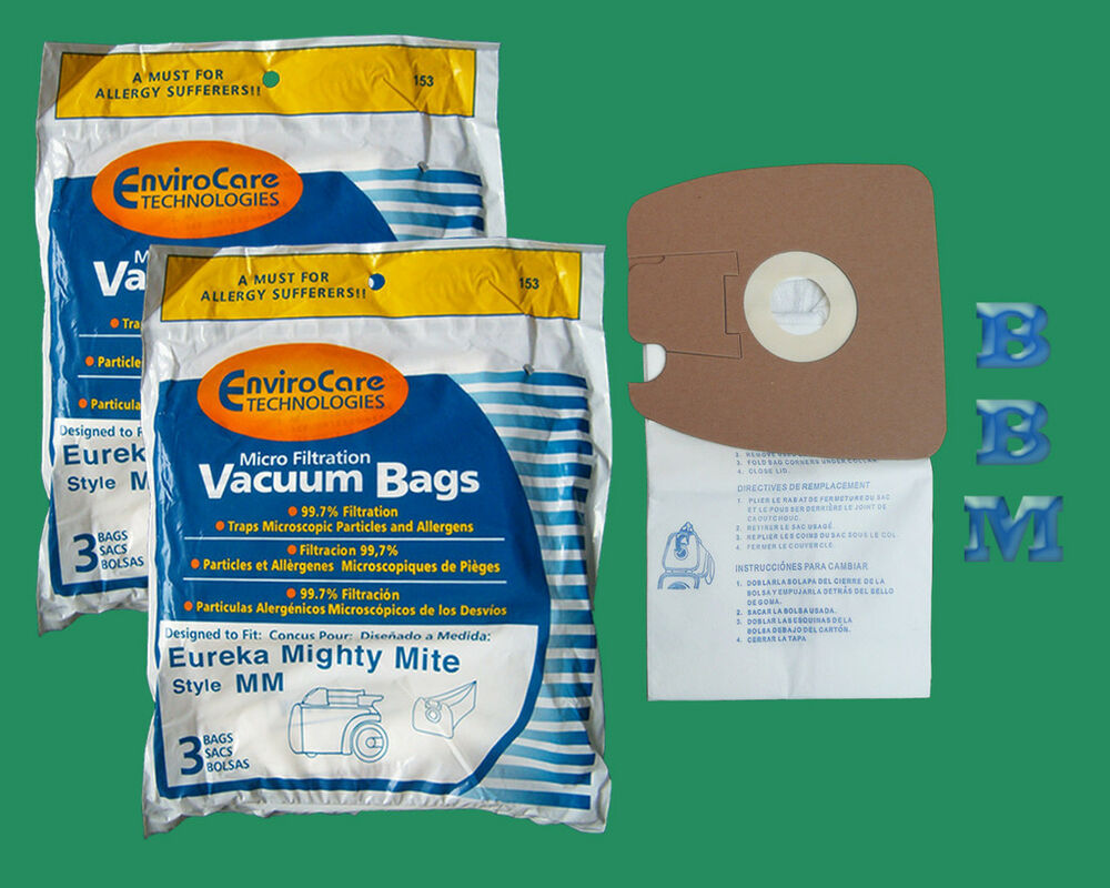 6 Allergy Bags Eureka Sanitaire Style Mm Mighty Mite Tank