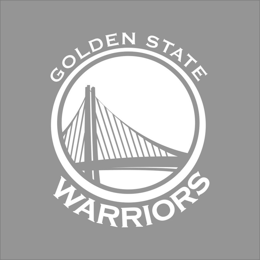 Golden State Warriors Nba Team Logo 1color Vinyl Decal