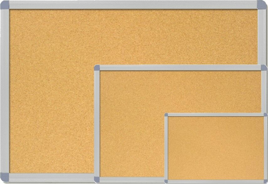 pinnwand mit aluminium rahmen pinwand kork memoboard hochwertige mdf r ckwand ebay. Black Bedroom Furniture Sets. Home Design Ideas