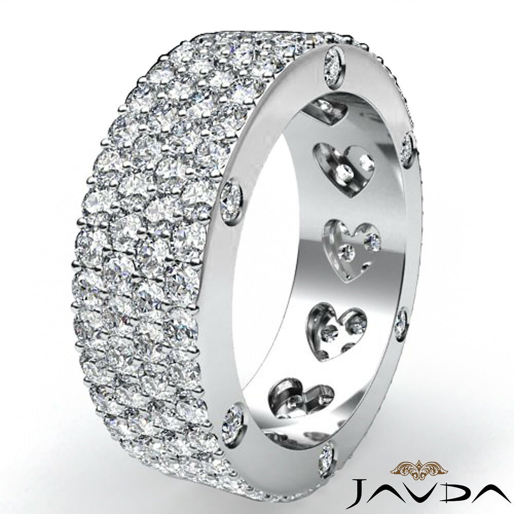 Pavé Bands: Round Diamond Womens Wedding Band Eternity Engagement Pave