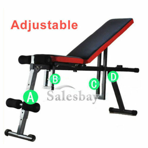 Sit up abdominal crunch adjustable flat to incline bench
