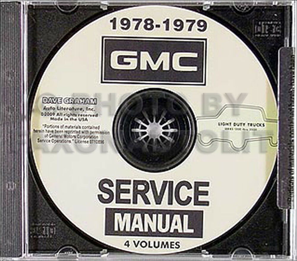 1978-1979 GMC Shop Manual Set on CD Jimmy Suburban Van Rally Pickup Truck  Sierra | eBay
