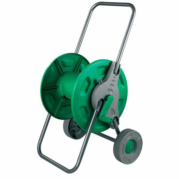Hose Pipe Reel Holder Trolley Cart Garden Water Portable