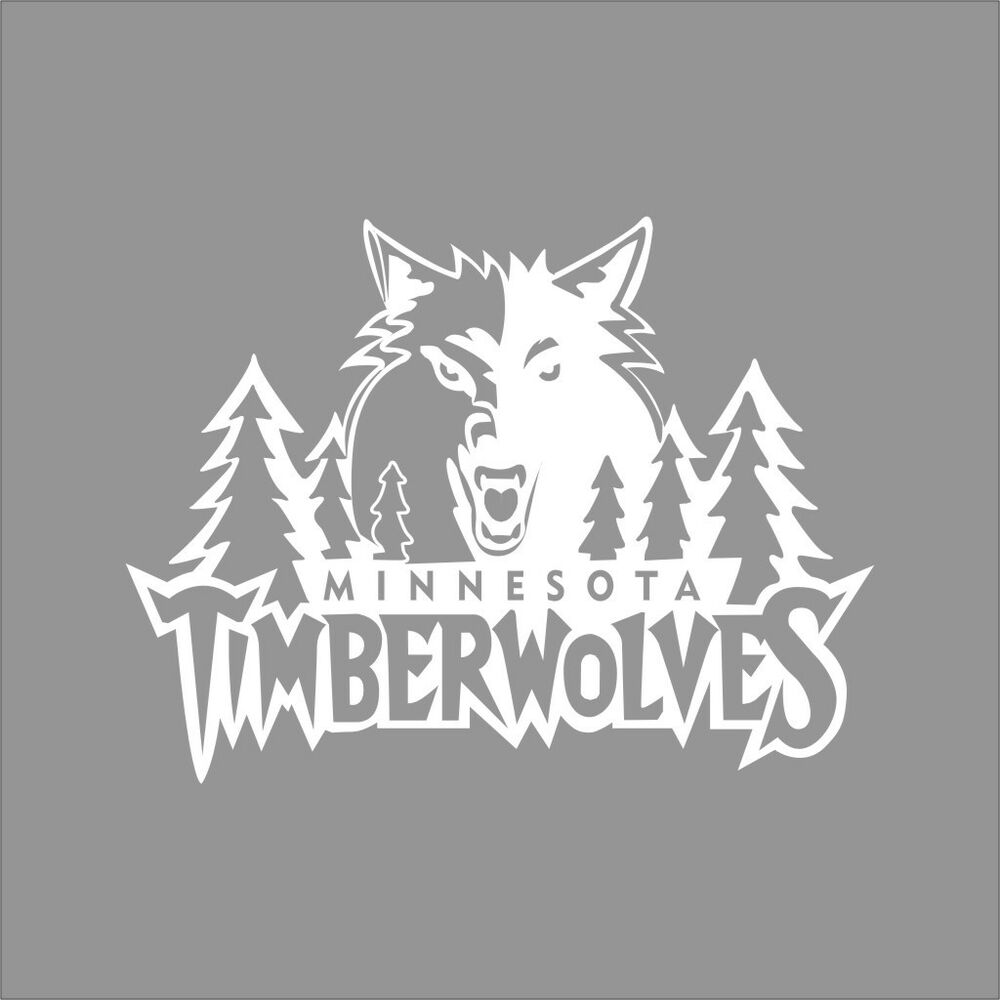 Minnesota Timberwolves Nba Team Logo 1color Vinyl Decal