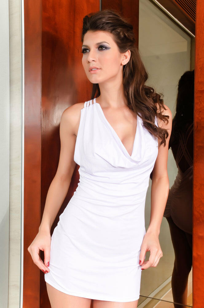 Open string back tank style mini dress with g string white set ebay