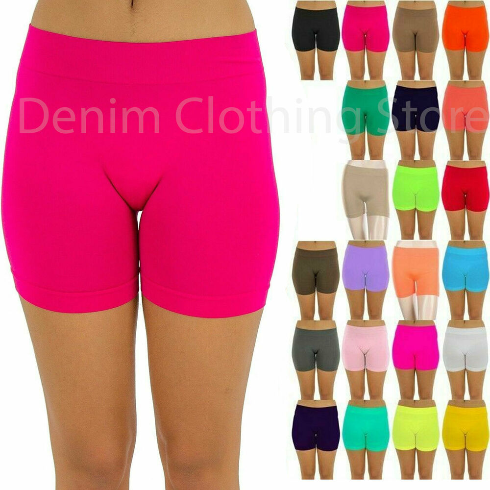 Basic Seamless Junior Soft Yoga Bike Mini Short Pants