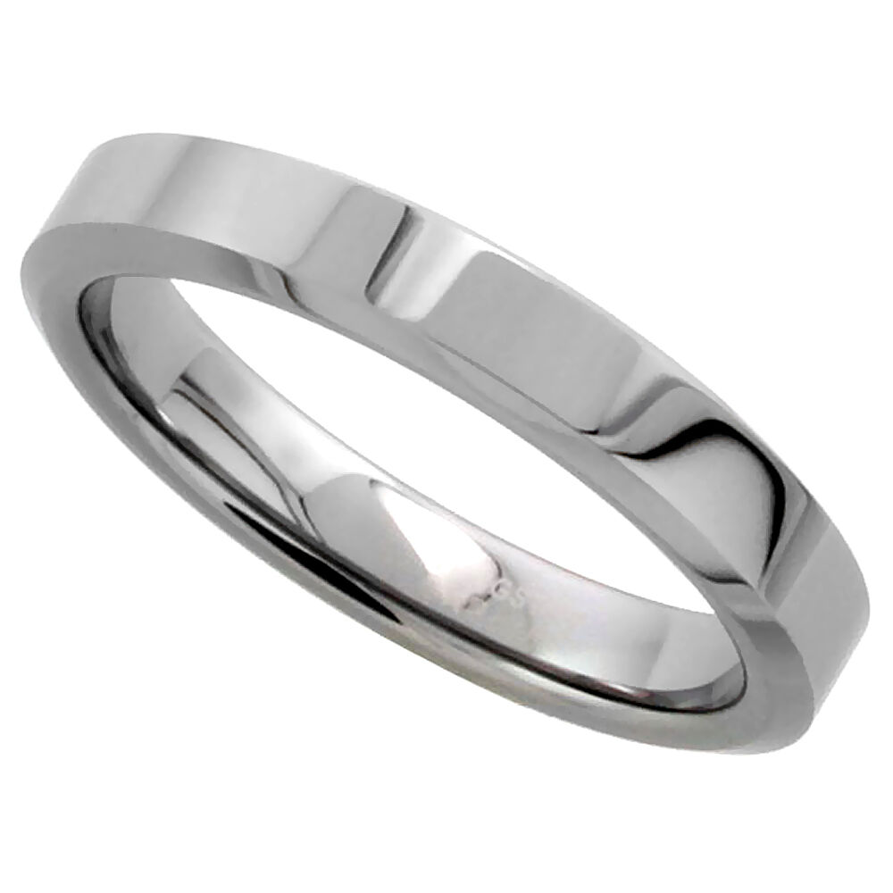 4mm him her tungsten flat wedding band thumb ring With tungsten wedding rings for him