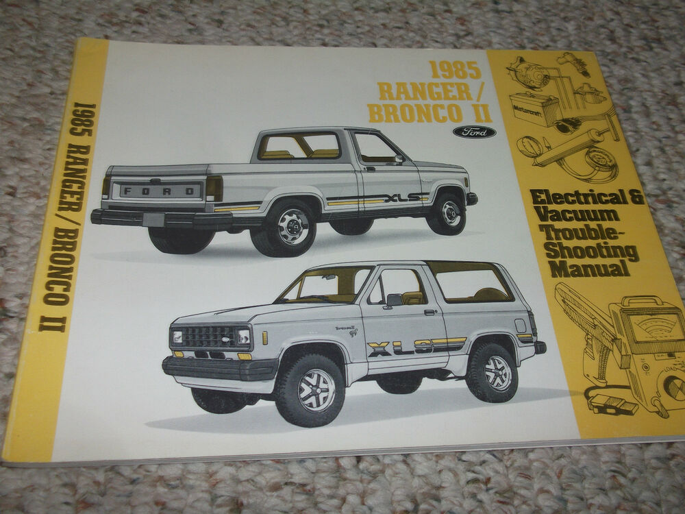 1985 ford bronco ii truck electrical wiring diagrams. Black Bedroom Furniture Sets. Home Design Ideas