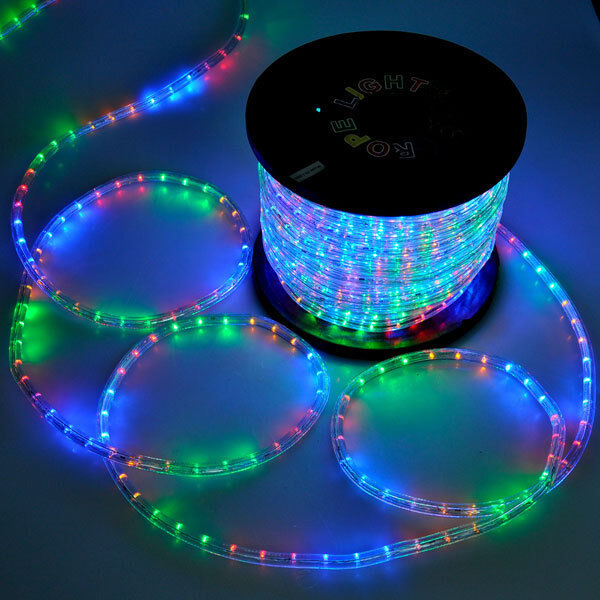 multi rgb led rope 150ft 110v 2 wire flexible diy lighting outdoor