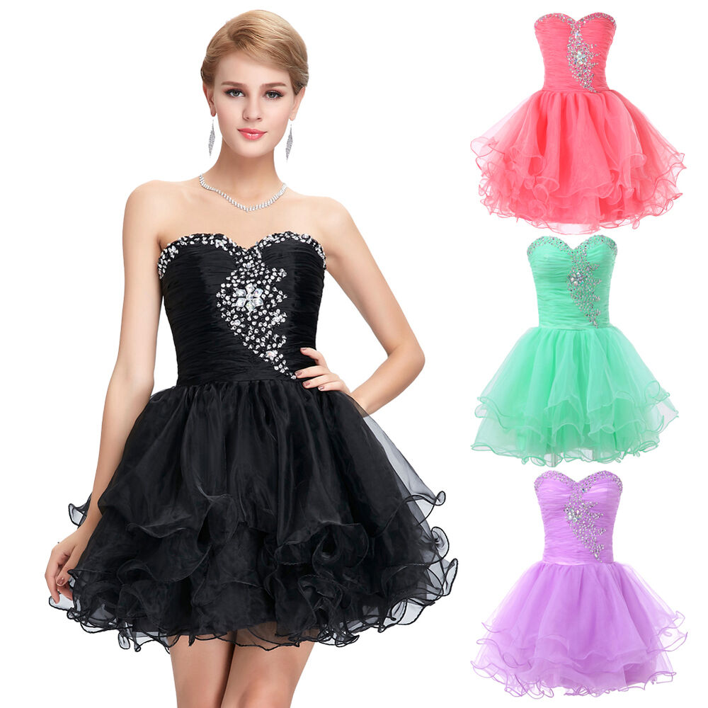 2016 GK Front Beaded Short Mini Prom Dress Evening Party