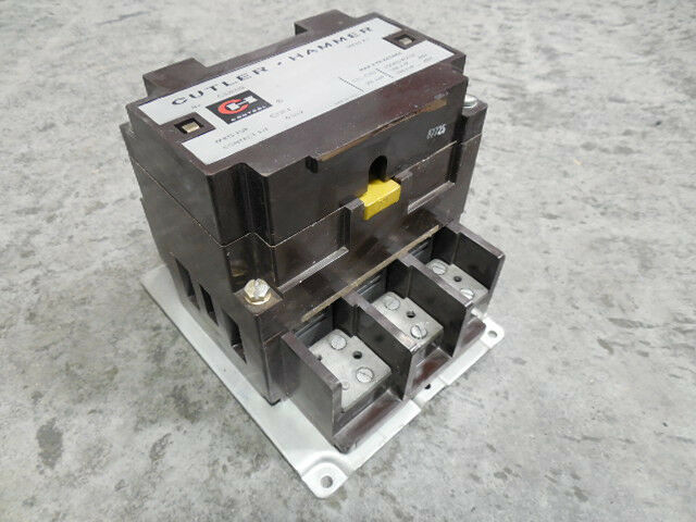 Used cutler hammer c32kn3 contactor series a1 200 amp 480 for Cutler hammer motor starters