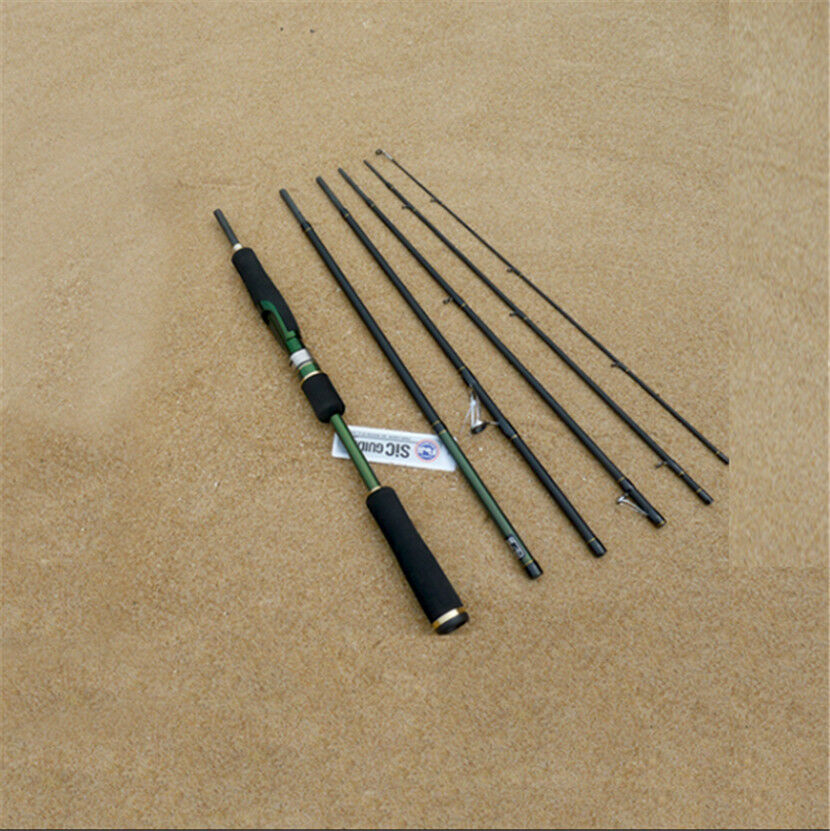 Fuji guides 8ft mh portable 6 sections spinning rod travel for Fishing pole guides