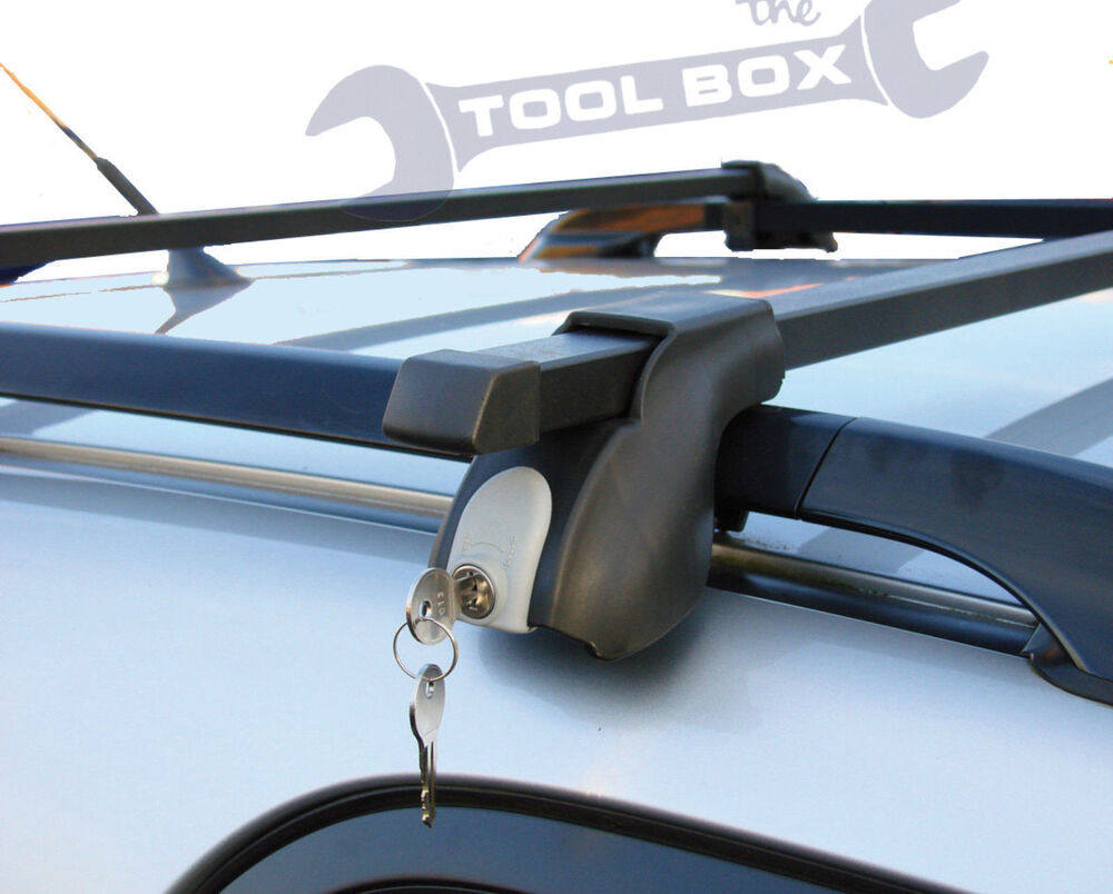 Universal roof bars 1 3m for cars with existing roof rails ebay for Thule 1254
