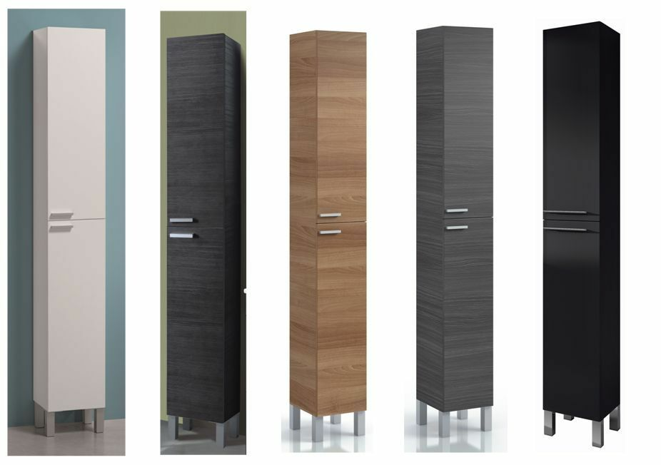 Luxury Designer 400mm Grey Avola Tall Bathroom Storage Unit Main Image