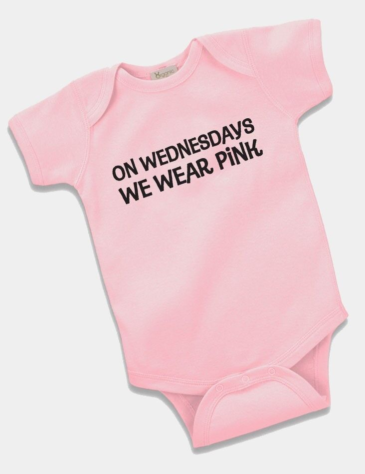 On Wednesdays We Wear Pink Onesie Baby Clothing Girls Gift