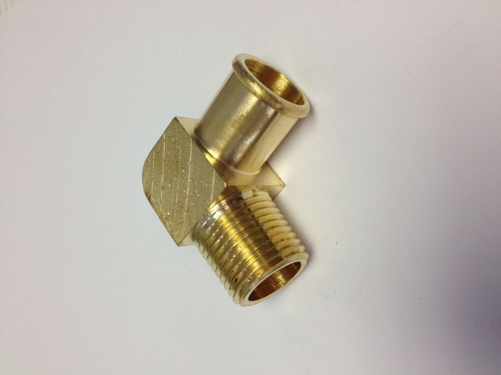 Brass fittings hose barb degree elbow id
